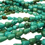 Turquoise Beads, Teardrop 11x9mm Stabilized