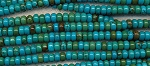 Turquoise 7mm Rondelle Beads, Stabilized