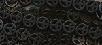 15mm Black Peace Sign Beads