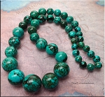 Turquoise Beads, Graduated Round 8mm to 18mm Stabilized