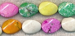 20x15mm Multicolored Magnesite Oval Beads