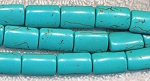15x10mm Turquoise Rectangle Pillow Beads