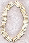 Magnesite Beads, White Top-Drilled Dagg
