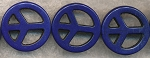 25mm Blue Peace Sign Beads