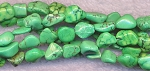 Magnesite Beads, Green Nuggets Small