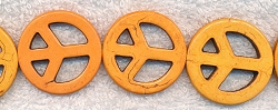 35mm Sunset Peace Sign Beads