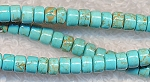 Turquoise Beads, Heishe 5mm Spacers