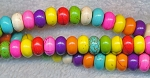 Magnesite Beads, Multicolored Rondelle 8mm