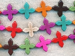 Cross Beads, Multicolor 20mm Pinwheel