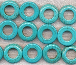 Turquoise Beads, Donut 20mm