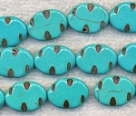 Turquoise Beads, Oval 20x15mm Fancy