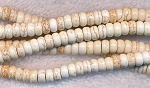 6mm White Magnesite Rondelle Beads