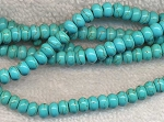 Turquoise Beads, Rondelle 6mm