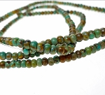 Turquoise Beads, Rondelle 4mm Natural
