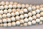 Magnesite Beads, White 12mm Round