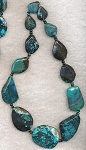 Turquoise Beads, Freeform Slab Natural Faceted