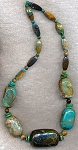 Turquoise Beads, Mixed Natural