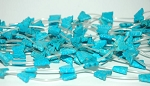 Turquoise Beads, Butterfly 12x15mm