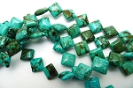 Turquoise Beads, Diamond 14mm Stabilized