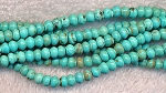 4.5mm Turquoise Rondelle Beads