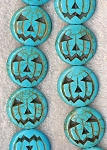 Turquoise Beads, Pumpkin 25mm