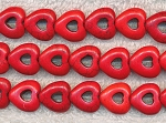 ZSOLDOUT - Magnesite Beads, Red Heart in Heart 15mm