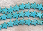 15mm Turquoise Star Beads