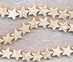 Magnesite Beads, White Star 15mm