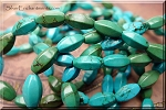 12x6mm Stabilized Turquoise Melon Rice Beads