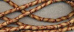 Wood Beads, Tube, 20x6mm