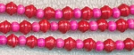 Wood Beads, Red Saturn and Pink Rondelle Mix