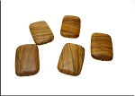 ZSOLDOUT - Picture Jasper Bead Pendants, Wood Jasper 30x20mm (10)