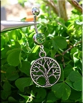 Ringed Tree of Life Belly Ring - EXAMPLE
