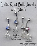 Sterling Silver Celtic Iron Cross Belly Ring, Celtic Body Jewelry