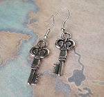 Silver Key Earrings, Everyday Key Jewelry