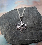 Celtic Dove Necklace, Silver Ornate Bird Jewelry