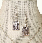 Silver Castle Earrings