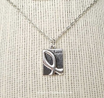 Awareness Ribbon Necklace, Hope Necklace