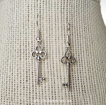 Key Earrings, Silver Hekate Earrings