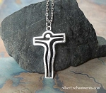 Surreal Crucifix Necklace