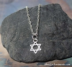 Small Star of David Necklace - Everyday Silver Jewish Jewelry