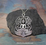 Large Meditation Necklace, Everyday Silver Yoga Jewelry