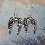 Silver Angel Wings Earrings - Everyday Angel Jewelry