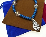 Hamsa Bracelet, Evil Eye Protection Jewelry, Beaded Hand Bracelet
