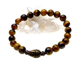 Buddha Bracelet with Tiger's Eye Gemstones