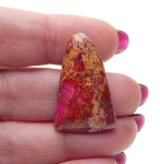 Pink Sea Sediment Jasper Cabochon, Cathedral Pyramid, 30x20mm Jasper Cab