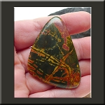 Red Creek Jasper Freeform Cabochon for Wire Wrapping or Bead Embroidery 54x38mm