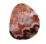 Mexican Crazy Lace Agate Cab, Freeform Gemstone Cabochon, 49x41mm
