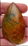 Large Red Creek Jasper Cab, Freeform Gemstone Cabochon 62x34mm