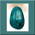 Natural Turquoise Cab for Wire-Wrapping Freeform, 40x25mm Turquoise Cabochon